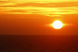 Coucher de soleil sur l'océan Atlantique, Portugal, road-trip
