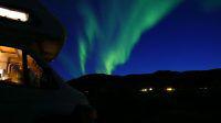 Road-trip sous les aurores boréales en Norvège avec les chiens (chiens-loups de saarloos) qui sont du voyage