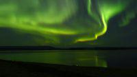 aurore boréale au nord de la Norvège, road-trip